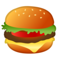 Hamburger on Google Android 8.0