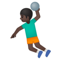 Person Playing Handball: Dark Skin Tone on Google Android 8.0