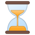 Hourglass With Flowing Sand on Google Android 8.0