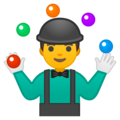 Person Juggling on Google Android 8.0