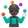 Person Juggling: Dark Skin Tone on Google Android 8.0
