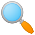 Left-Pointing Magnifying Glass on Google Android 8.0