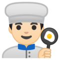 Man Cook: Light Skin Tone on Google Android 8.0