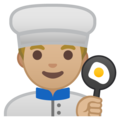 Man Cook: Medium-Light Skin Tone on Google Android 8.0