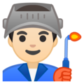 Man Factory Worker: Light Skin Tone on Google Android 8.0
