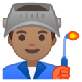 Man Factory Worker: Medium Skin Tone on Google Android 8.0