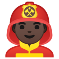 Man Firefighter: Dark Skin Tone on Google Android 8.0
