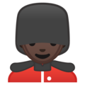 Man Guard: Dark Skin Tone on Google Android 8.0