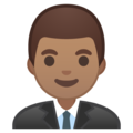 Man Office Worker: Medium Skin Tone on Google Android 8.0