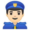 Man Police Officer: Light Skin Tone on Google Android 8.0