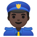 Man Police Officer: Dark Skin Tone on Google Android 8.0
