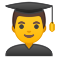 Man Student on Google Android 8.0