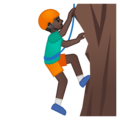 Man Climbing: Dark Skin Tone on Google Android 8.0