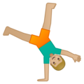 Man Cartwheeling: Medium-Light Skin Tone on Google Android 8.0