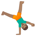 Man Cartwheeling: Medium Skin Tone on Google Android 8.0