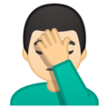 Man Facepalming: Light Skin Tone on Google Android 8.0