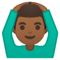 Man Gesturing OK: Medium-Dark Skin Tone on Google Android 8.0