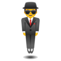Man in Business Suit Levitating on Google Android 8.0