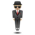Man in Business Suit Levitating: Medium-Light Skin Tone on Google Android 8.0