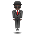 Man in Business Suit Levitating: Dark Skin Tone on Google Android 8.0
