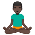 Man in Lotus Position: Dark Skin Tone on Google Android 8.0