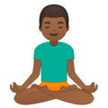 Man in Lotus Position: Medium-Dark Skin Tone on Google Android 8.0