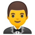 Man in Tuxedo on Google Android 8.0
