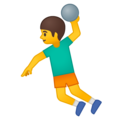 Man Playing Handball on Google Android 8.0