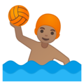 Man Playing Water Polo: Medium Skin Tone on Google Android 8.0