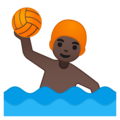 Man Playing Water Polo: Dark Skin Tone on Google Android 8.0