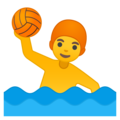 Man Playing Water Polo on Google Android 8.0