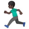 Man Running: Dark Skin Tone on Google Android 8.0