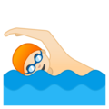 Man Swimming: Light Skin Tone on Google Android 8.0