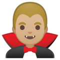 Man Vampire: Medium-Light Skin Tone on Google Android 8.0