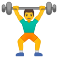 Man Lifting Weights on Google Android 8.0