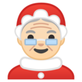 Mrs. Claus: Light Skin Tone on Google Android 8.0