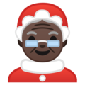 Mrs. Claus: Dark Skin Tone on Google Android 8.0