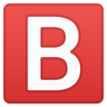 B Button (blood Type) on Google Android 8.0