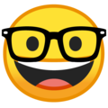 Nerd Face on Google Android 8.0
