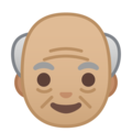 Old Man: Medium-Light Skin Tone on Google Android 8.0