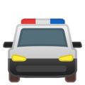 Oncoming Police Car on Google Android 8.0