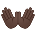 Open Hands: Dark Skin Tone on Google Android 8.0