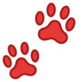 Paw Prints on Google Android 8.0