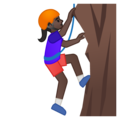 Person Climbing: Dark Skin Tone on Google Android 8.0