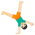 Person Cartwheeling: Light Skin Tone on Google Android 8.0