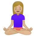 Person in Lotus Position: Medium-Light Skin Tone on Google Android 8.0