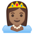 Princess: Medium Skin Tone on Google Android 8.0
