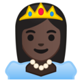 Princess: Dark Skin Tone on Google Android 8.0