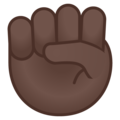 Raised Fist: Dark Skin Tone on Google Android 8.0