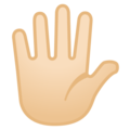 Raised Hand With Fingers Splayed: Light Skin Tone on Google Android 8.0